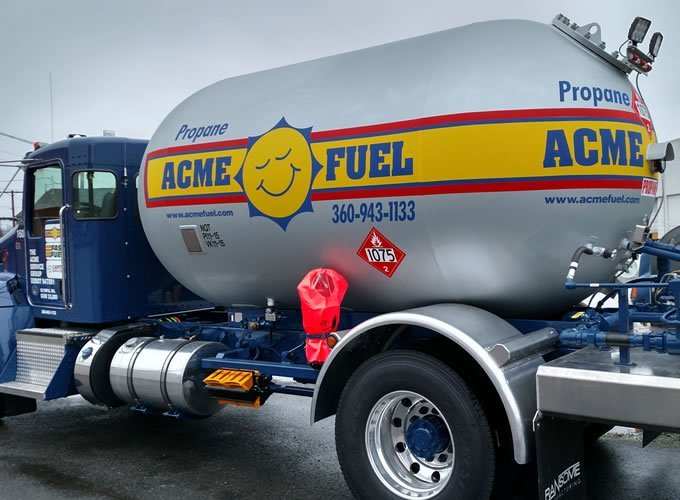 Acme Fuel Propane Delivery Truck Olympia WA