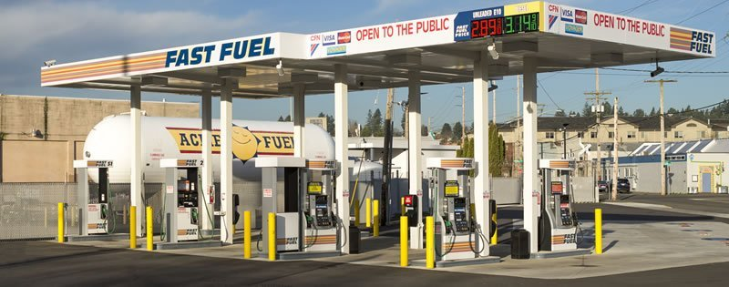 Gas Station Olympia Acme Fuel TOP TIER™ Gas Diesel