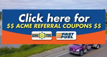 Acme Fuel Referral Coupon Advert